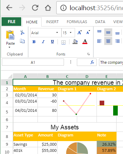JavaScript Spreadsheet End-User Designer for Creating Ad-hoc Spreadsheets and Views