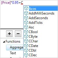 インテリセンス機能によるスマートコード補完