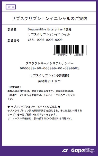 ComponentOne/Wijmo イニシャル